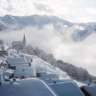 Siat Dorf_Schneelandschaft